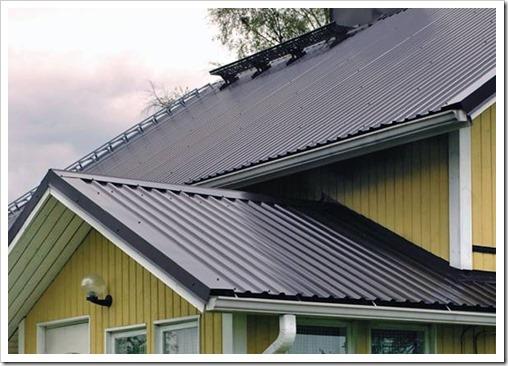 Устройство крыши из профлиста