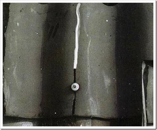 Ремонт трещин и дырок в шифере.