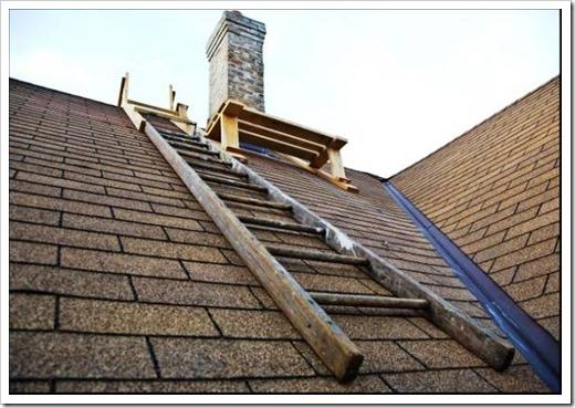 Монтаж лестниц для крыши