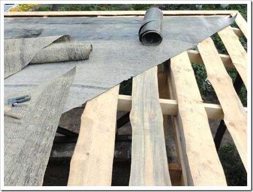 Обрешетка крыши под рубероид.