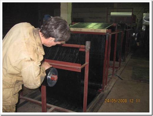 Оборудование для производства рубероида.