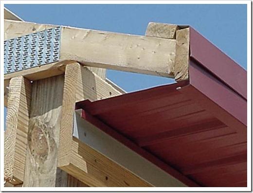 Устройство карниза крыши из профнастила