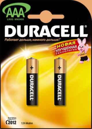 Купить Duracell Lr03 bp12  1.5В aaa 1шт. (тонкая)