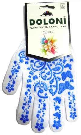 Купить Doloni 711  белая с голубым рисунком ПВХ (бабочка)
