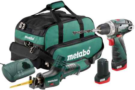 Купить Metabo Combo set 2.4 10.8В liion: bs+ase+2x2.0Ач