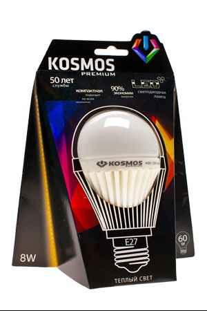 Купить КОСМОС Premium led 10Вт a60 e27 230В 3000k