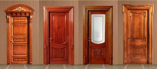 Разные модели деревянных дверей