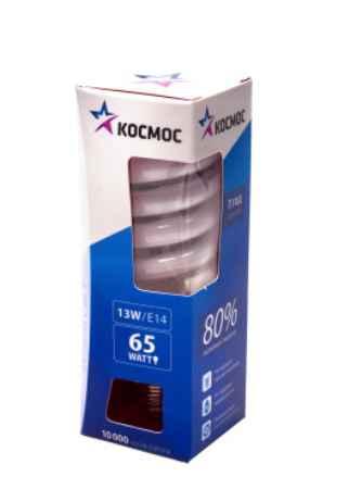 Купить КОСМОС 13Ватт 2700К Е14 Т2