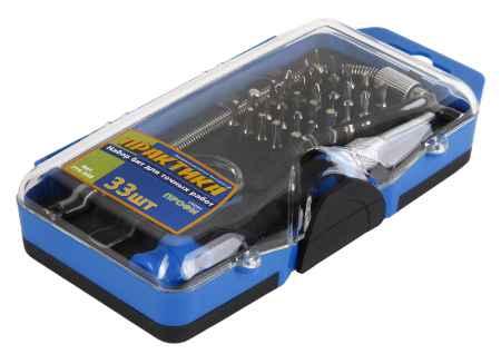 Купить ПРАКТИКА 774-535 мини, с набором бит 33 шт.