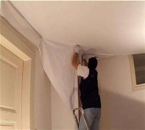 Натяжные потолки тканевые своими руками видео