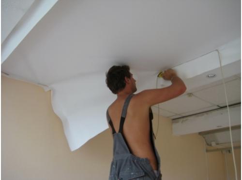 Подготовка поверхности под выравнивание и отделка потолка