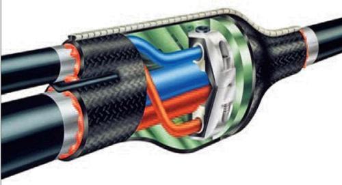 соединение силового кабеля
