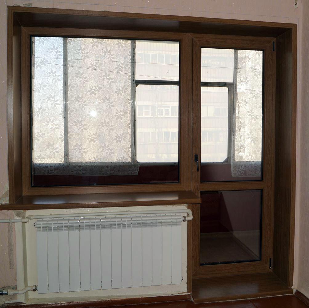 Монтаж балконного блока.
