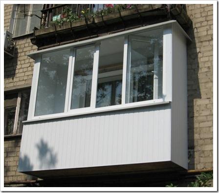 Принципы монтажа остекления балкона
