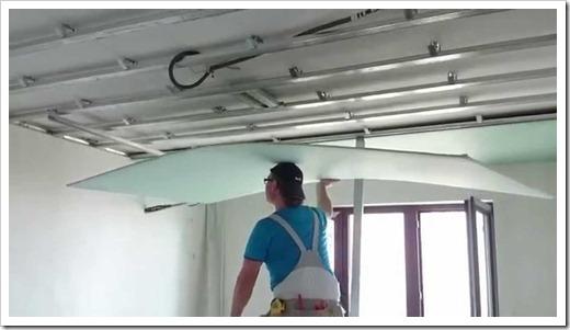 Методика установки гипсокартона на потолок