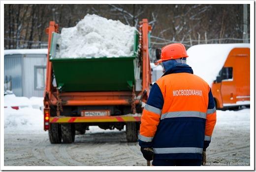 Плавим снег специальным оборудованием