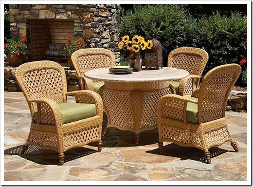 Плетеная мебель: разновидности