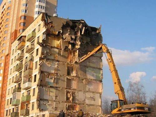 как сносят здание