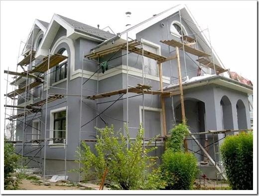 Выполнение ремонта фасада