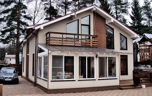 Отделка фасада домов из сип панелей