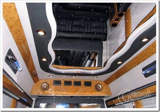 Комбинирование натяжного потолка с подвесным