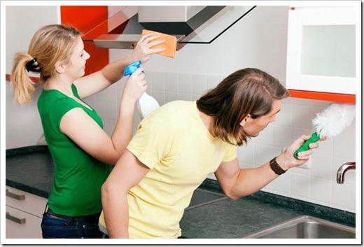 Народные способы очистки мебели от липкого жира