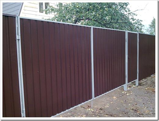 Дешевый забор своими руками