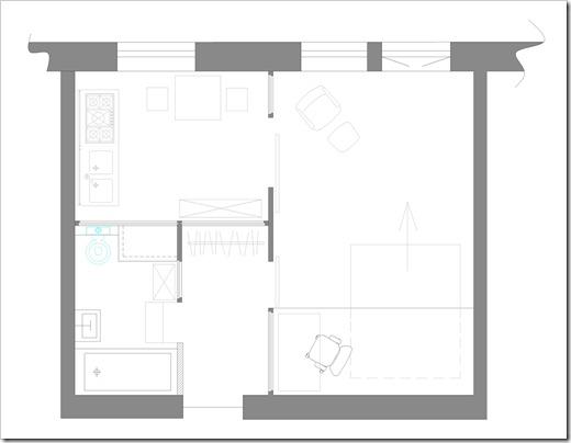 Площадь двухкомнатных квартир