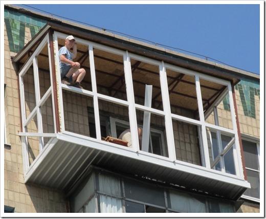 Расширение или сварка выноса балкона