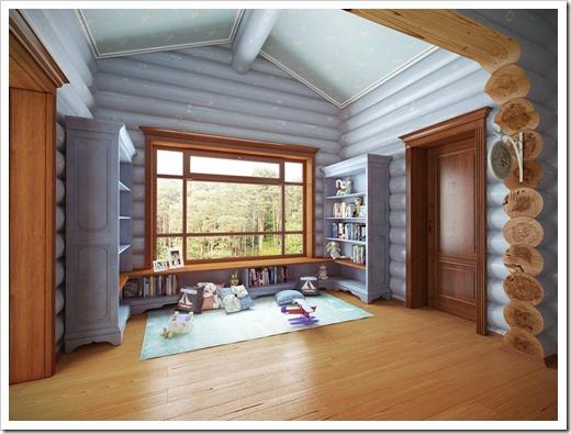Деревянные окна в частном доме