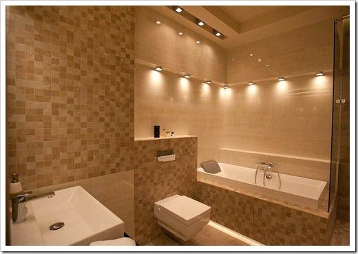 Нижняя подсветка в ванной