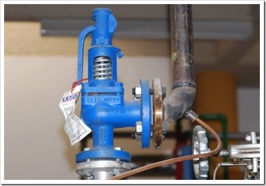 Конструктив предохранительного клапана